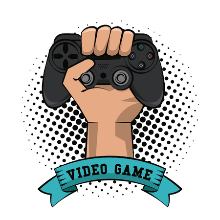 Gamer hand with gamepad icon vector illustration graphic design Illustration