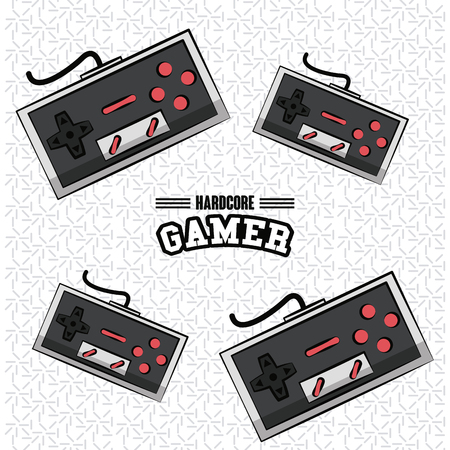 Gamer gamepads technology icon vector illustration graphic design Illustration