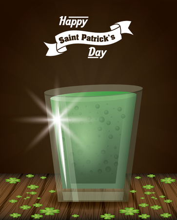 Patrick day cocktail icon vector illustration graphic design