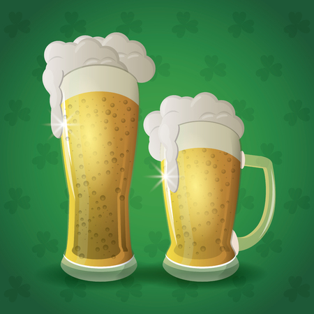Saint patricks day beers icon vector illustration graphic design