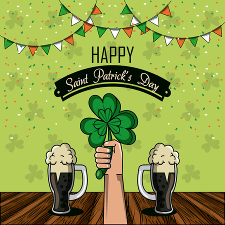 Saint patricks day cartoons card icon vector illustration graphic design Stock Vector - 95177766