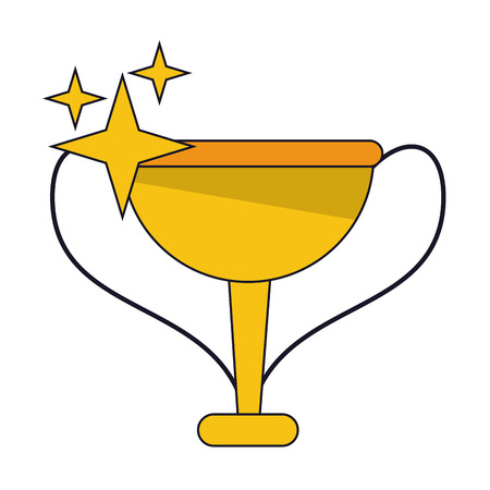 Videogame trophy cup icon vector illustration graphic design