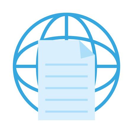 Global document sphere icon vector illustration graphic design Illustration