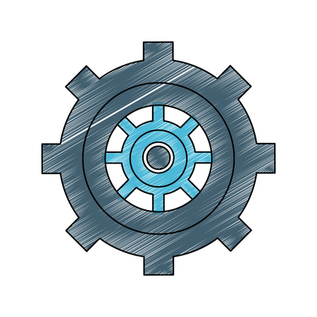 Gear machinery pieces icon vector illustration graphic design