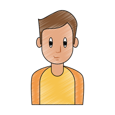 Young man cartoon icon vector illustration graphic design.