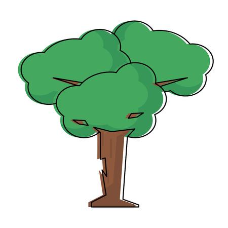 Videogame tree cartoon icon vector illustration graphic design