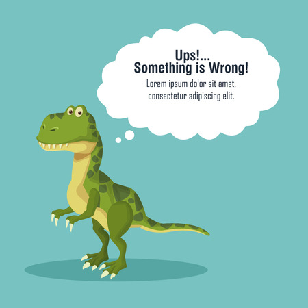 Error 404 dinosaur theme icon vector illustration graphic design