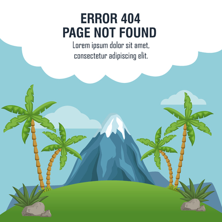 Error 404 vulcan theme icon vector illustration graphic design Illustration