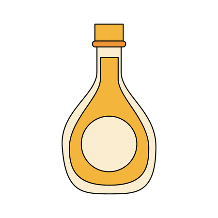 Oil bottle isolated icon vector illustration graphic design Çizim