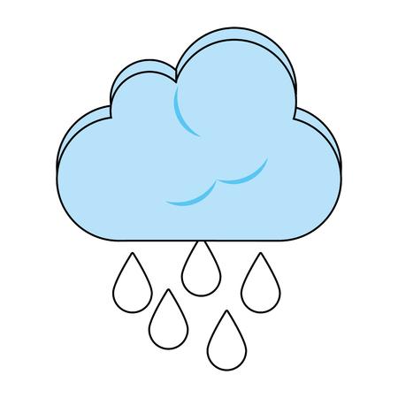 Rainy weather symbol icon vector illustration graphic design