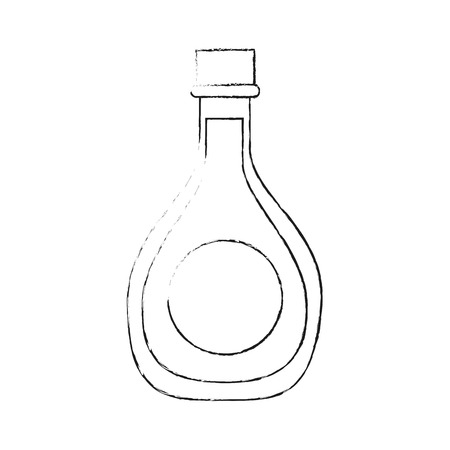 Oil bottle isolated icon vector illustration graphic design Çizim
