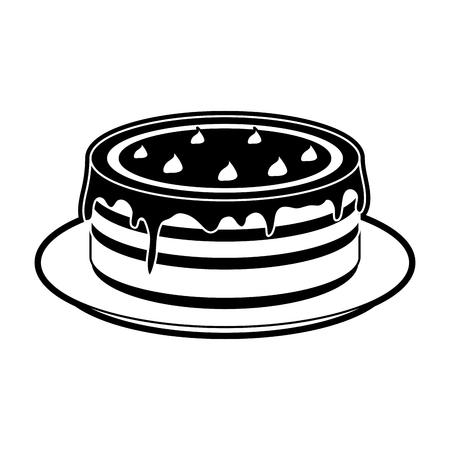 Pancakes with honey icon vector illustration graphic design Illustration