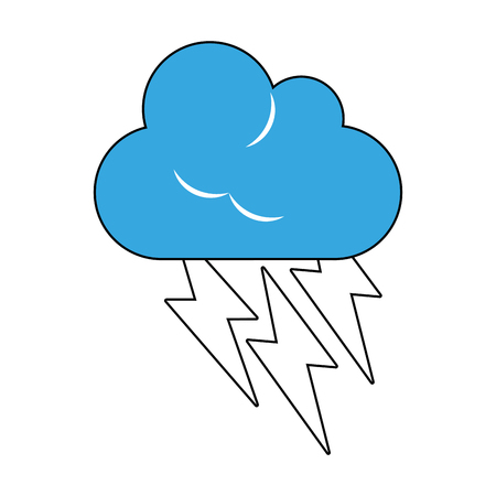 Cloud with thunderbolts icon vector illustration graphic design
