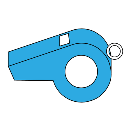 Referee whistle isolated icon vector illustration graphic design Vettoriali