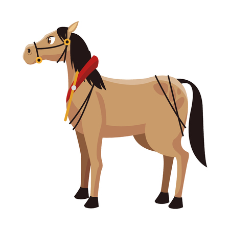 Horse animal cartoon icon vector illustration graphic design