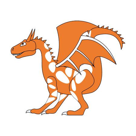 Monster dragon cartoon icon vector illustration graphic design