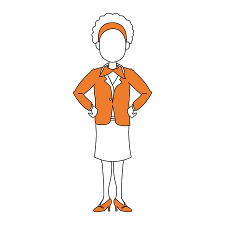 Business woman cartoon icon vector illustration graphic design