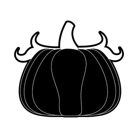 Pumpkin vegetable isolated icon vector illustration graphic design