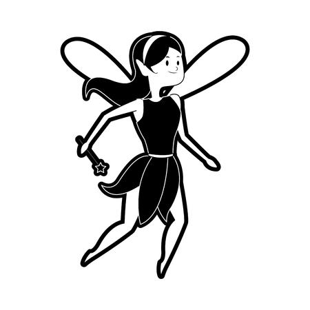 Fairy flying cartoon icon vector illustration graphic design