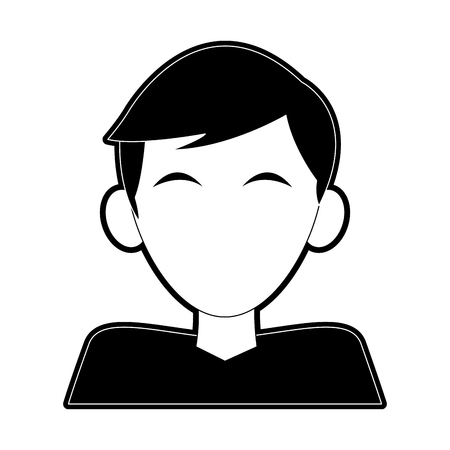 Man faceless cartoon icon vector illustration graphic design  イラスト・ベクター素材