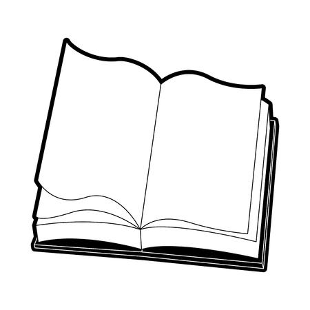 Book open isolated icon vector illustration graphic design Ilustrace