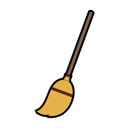 Broom stick tool icon vector illustration graphic design Illustration