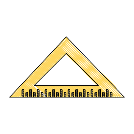 triangle ruler icon image vector illustration design