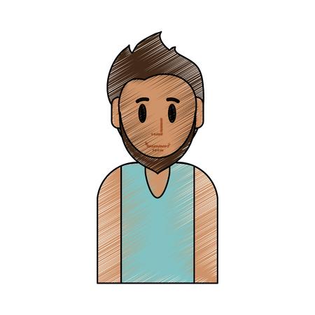 Young man cartoon icon vector illustration graphic design Illustration