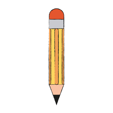 wooden pencil image vector illustration graphic design