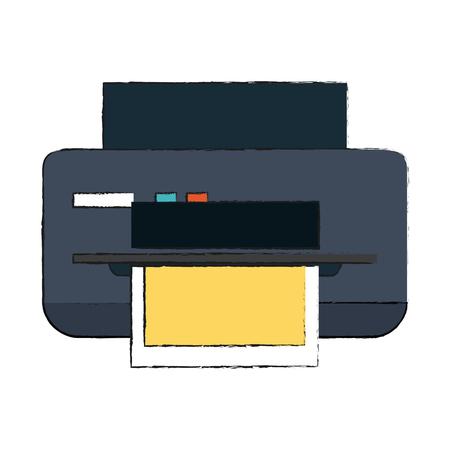 printer printing icon image vector illustration design Stock Illustratie
