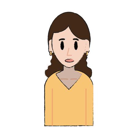 Young woman cartoon icon vector illustration graphic design