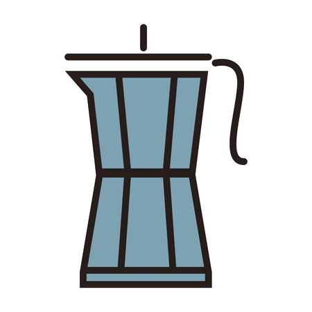 Coffee kettle symbol line icon vector illustration graphic Illustration
