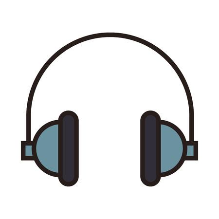 Music headphones symbol line icon vector illustration graphic Illustration