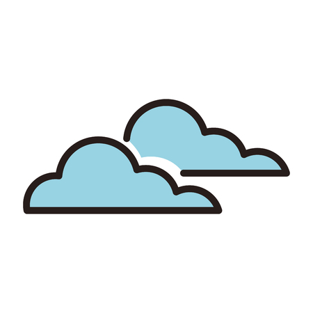 Clouds weather symbol line icon vector illustration graphic Illustration