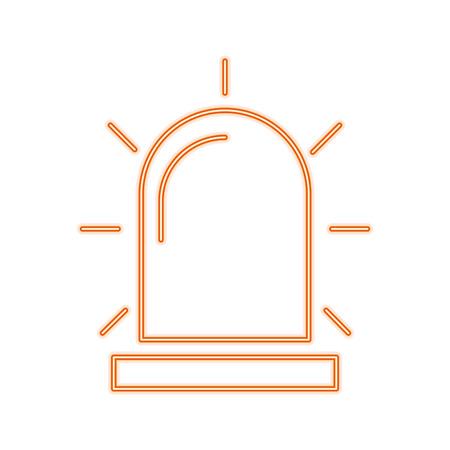 Alarm siren isolated line icon vector illustration graphic