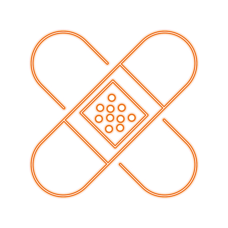 Bandages crossed symbol line icon vector illustration graphic Ilustração Vetorial