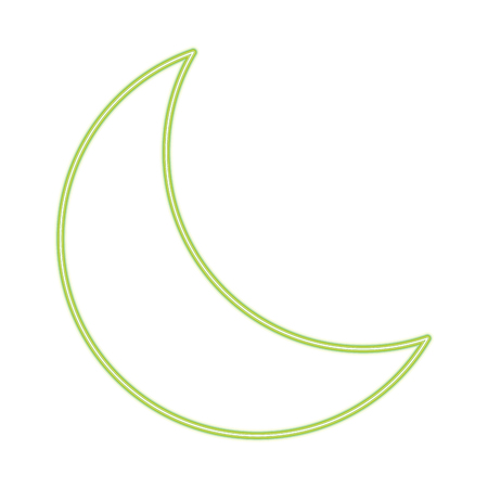 Moon quarter waning line icon vector illustration graphic