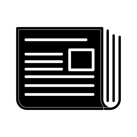 Newspaper isolated symbol line icon vector illustration graphic