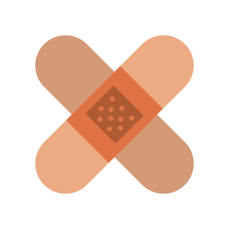 Bandages crossed symbol icon vector illustration graphic design Stock Illustratie