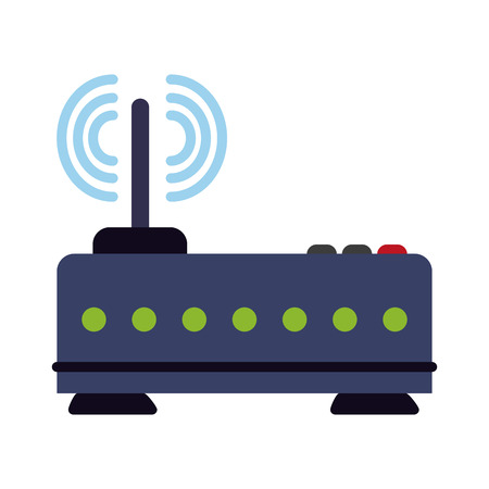 Wifi router symbol icon vector illustration graphic design
