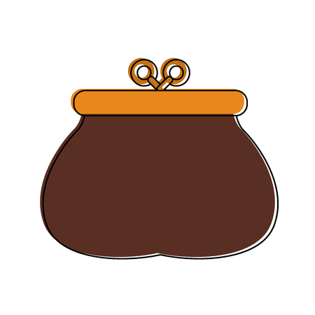 coins purse isolated icon vector illustration graphic design