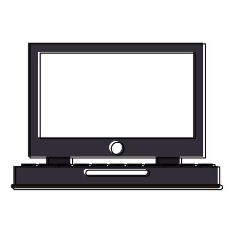 Desk computer symbol icon vector illustration graphic design