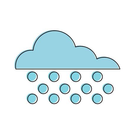 Winter weather symbol icon vector illustration graphic design