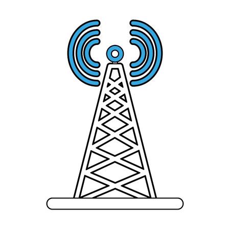 Communication antenna symbol icon vector illustration graphic design