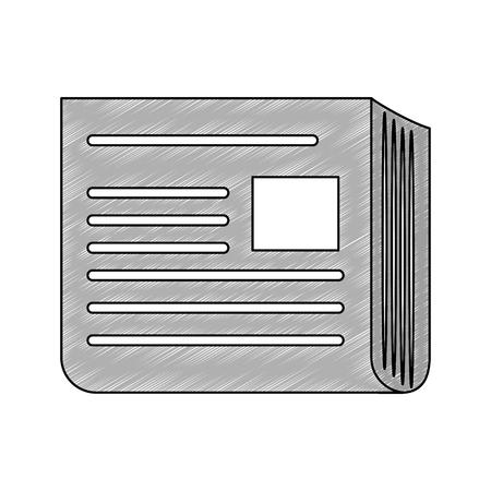 Newspaper isolated symbol icon