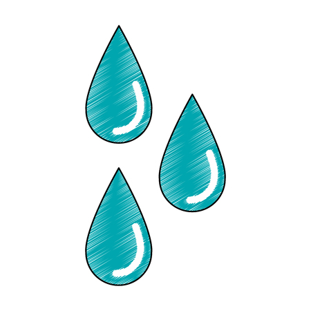 Water drops isolated icon vector illustration graphic design