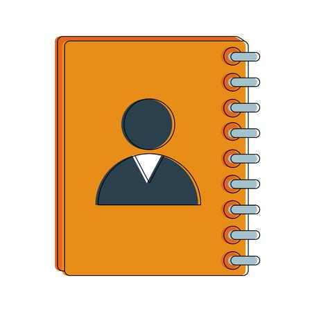 addressbook symbol icon vector illustration graphic design Illustration