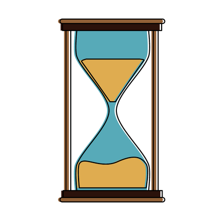 Hourglass antique clock symbol icon vector illustration graphic design