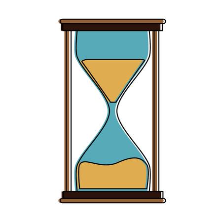 Hourglass antique clock symbol icon vector illustration graphic design