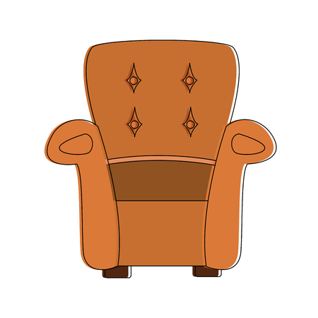 Armchair furniture isolated icon vector illustration graphic design
